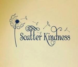Kindness scatter